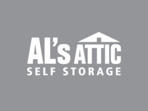 AL's Attic White Logo