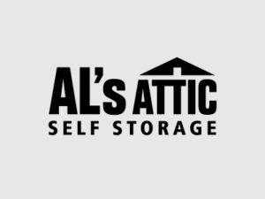 AL's Attic Black Logo