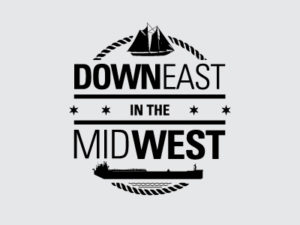 Downeast in the Midwest Black Logo Design