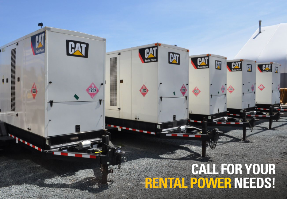 Cat Genrators on site at Dartmouth Facility