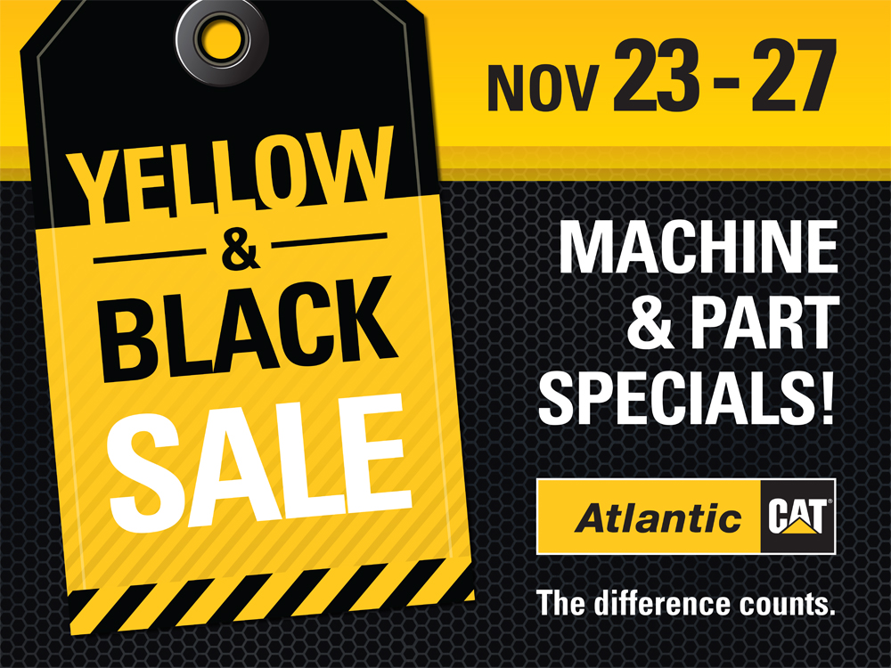 Black and Yellow Sales Event Sign