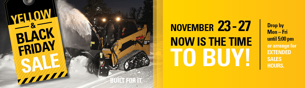 Black and Yellow Sales Event Web Ad