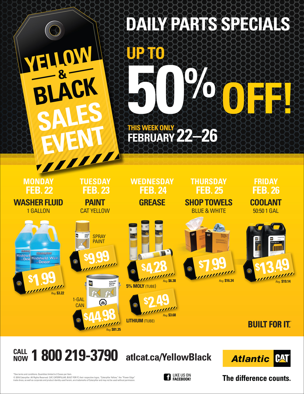Black and Yellow Sales Event Flyer